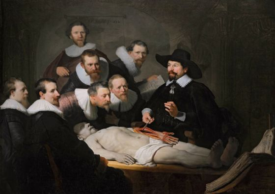 Rembrandt: The Anatomy Lesson of Dr. Nicolaes Tulp. Fine Art Print/Poster. Sizes: A4/A3/A2/A1 (004302)